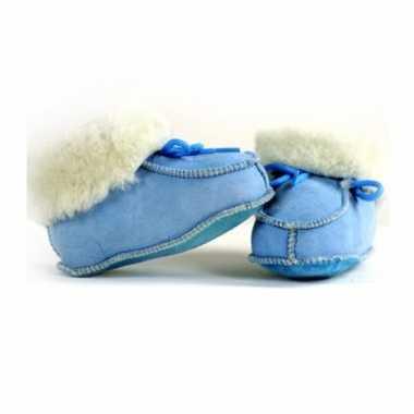 Blauwe baby sloffen