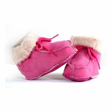 Roze baby sloffen